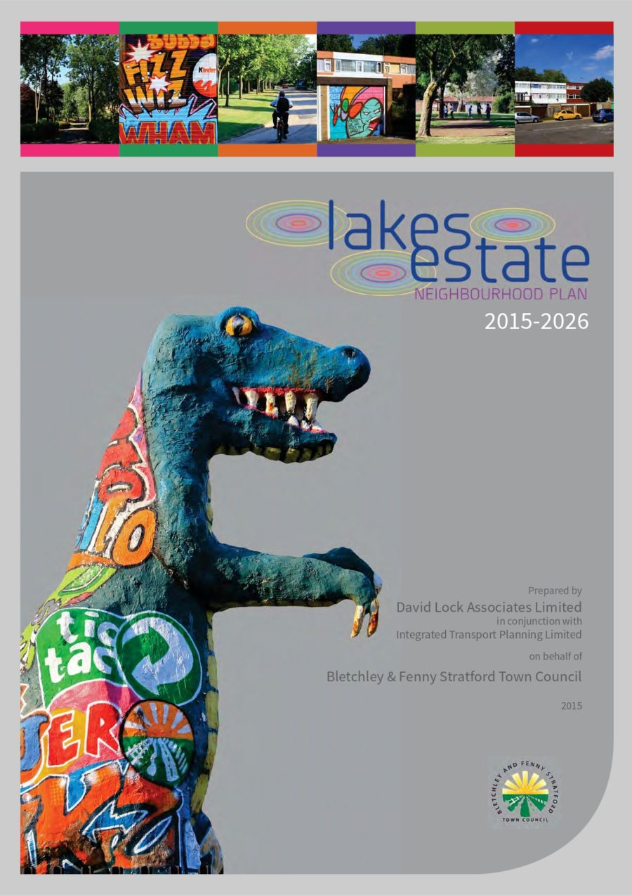 Front Page of Lakes Estate Neighbourhood Plan